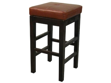 New Pacific Direct Cognac Leather Counter Height Stool 16874