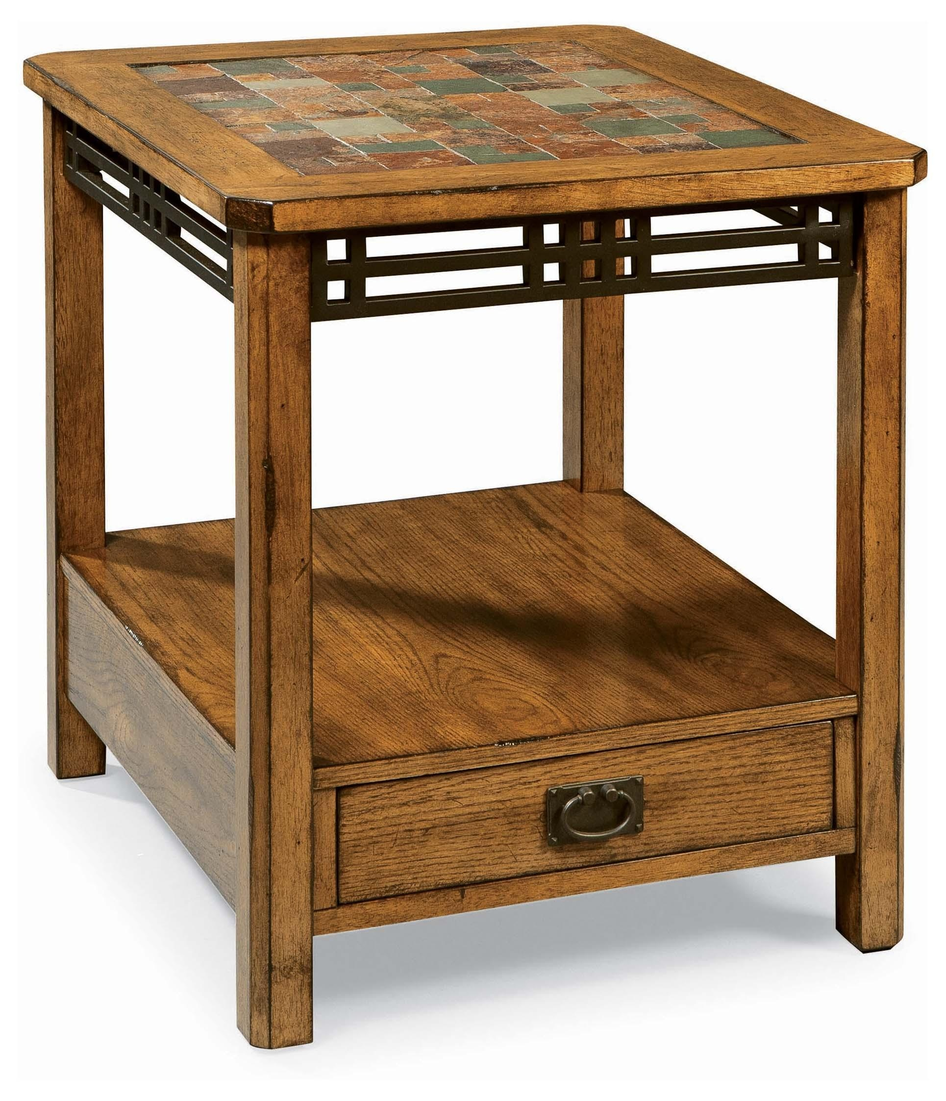 Peters Revington American Craftsman Drawer End Table 563614