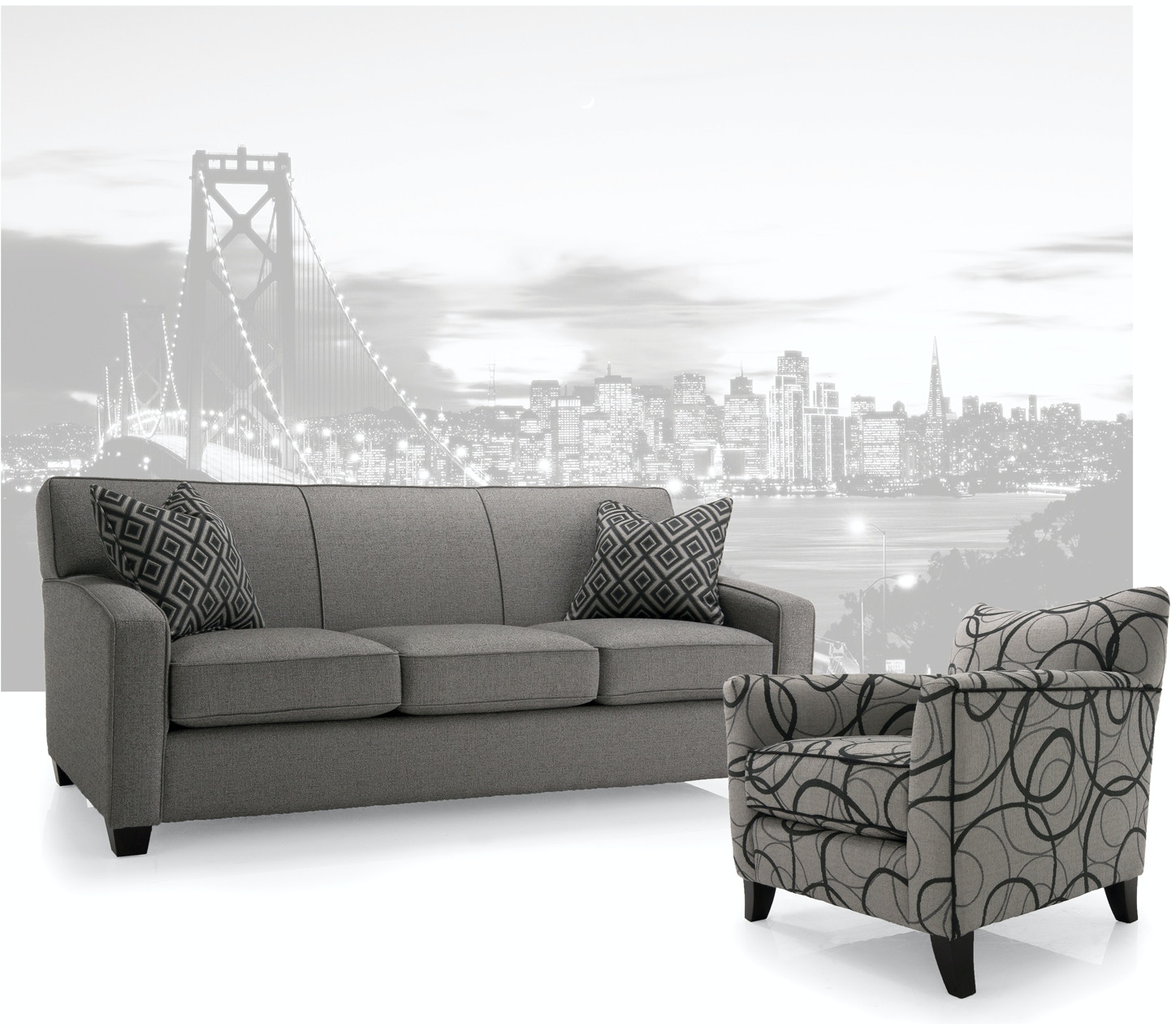 Decor Rest Sofa With Pillows 382248 Talsma Furniture Hudsonville