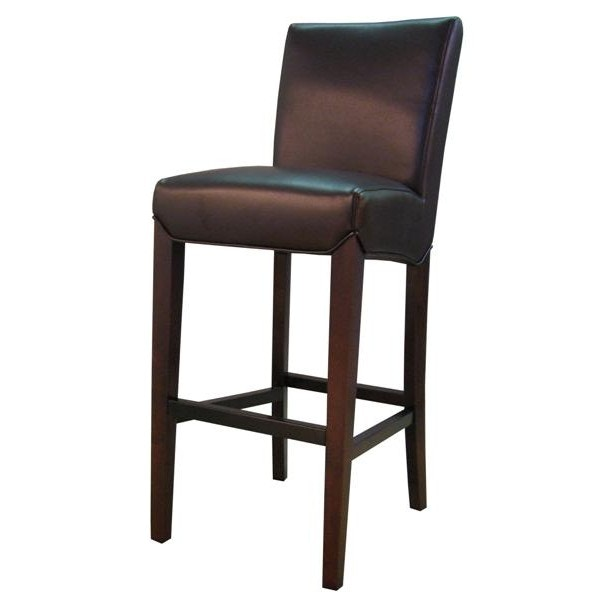 Coffee Bonded Leather Counter Height Stool
