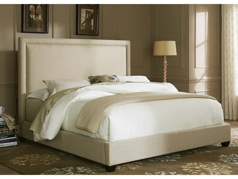 Queen Upholstered Bed with Nailhead Trim. Liberty Furniture King Upholstered Headboard with Nailhead Trim