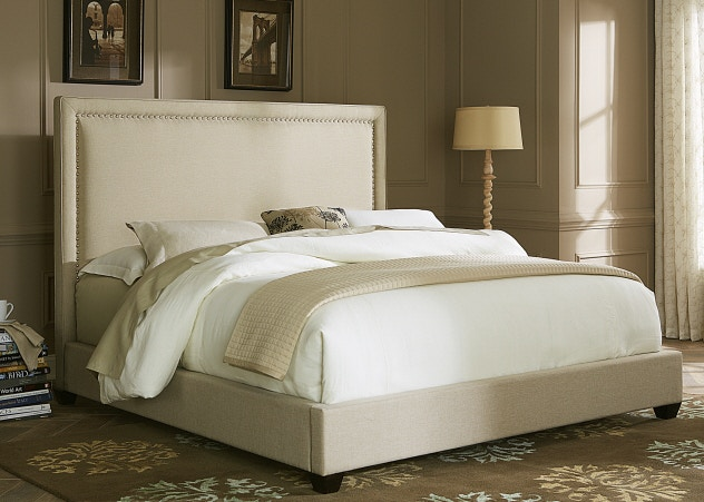 Liberty Furniture Queen Upholstered Bed With Nailhead Trim 351306 Bed