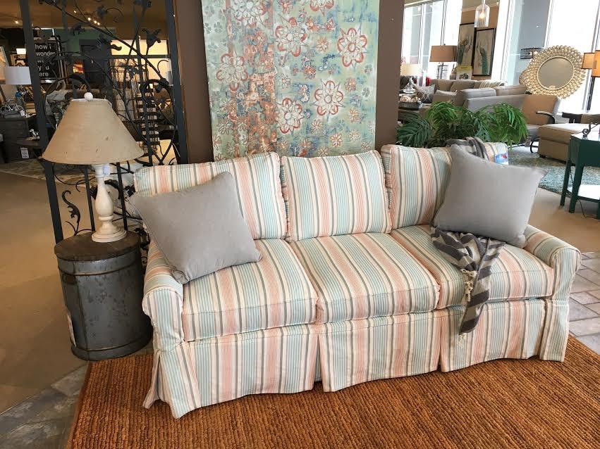 Beach House Queen Slip Covered Sleeper Sofa 30027Q