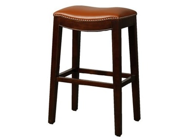 New Pacific Direct Bonded Leather Stool with Nailhead trim 247626