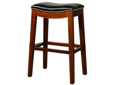 New Pacific Direct Bonded Leather Stool with Nailhead Trim 355412