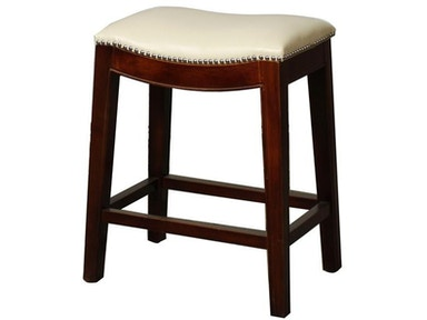 New Pacific Direct Bonded Leather Counter Stool with Nailhead Trim 247632