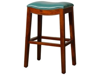 New Pacific Direct Bonded Leather Stool with Nailhead Trim 247638