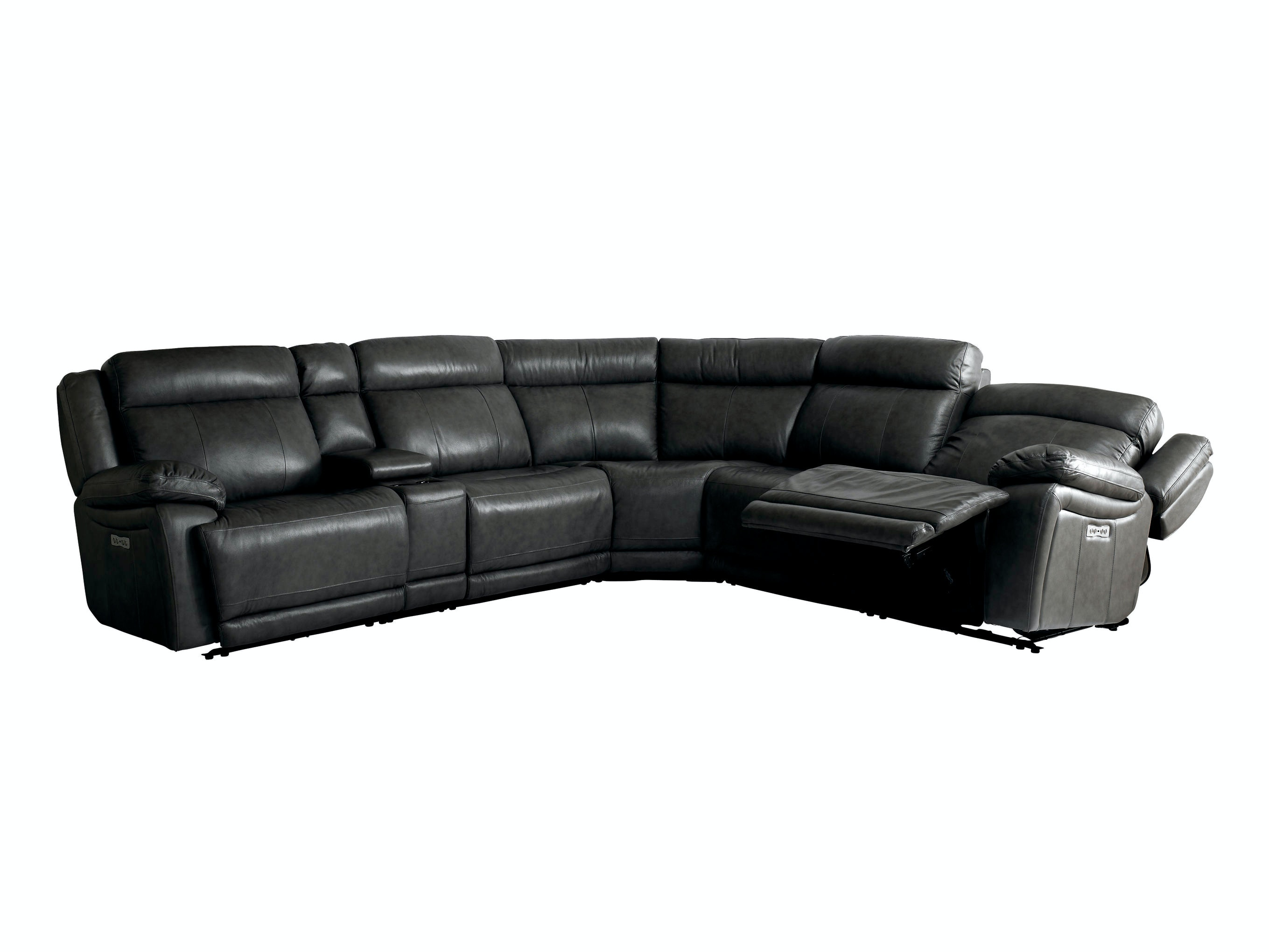 Recliner sectional lugar 3 piece bonded leather reclining for 2 arm pressback chaise