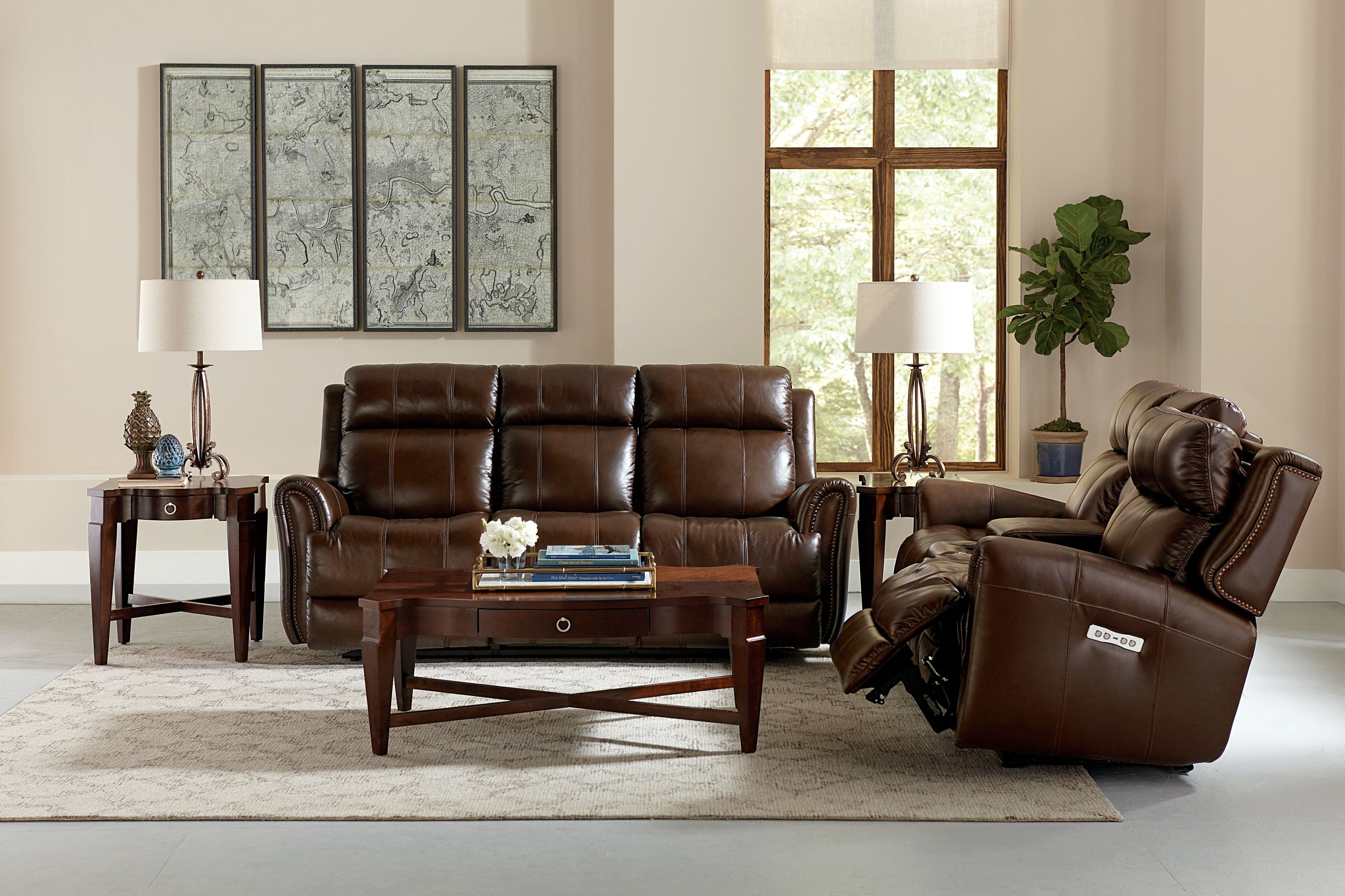 Bassett Marquee Power Reclining Sofa 742050