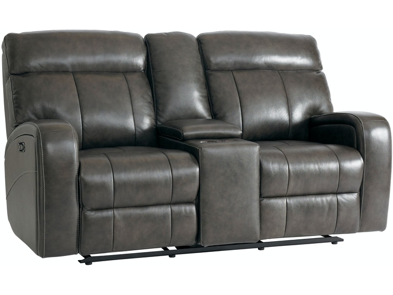 Bassett Beaumont Power Reclining Loveseat With Console