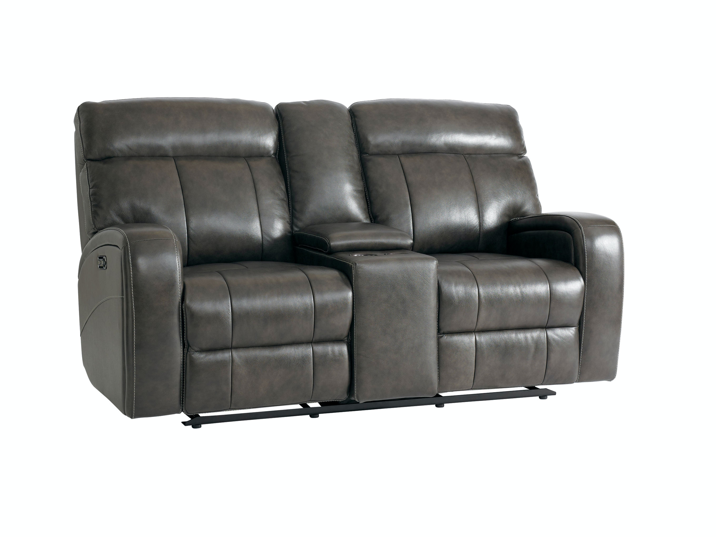 Bassett Beaumont Power Reclining Loveseat with Console 742064  sc 1 st  Talsma Furniture : power recliner loveseat with console - islam-shia.org