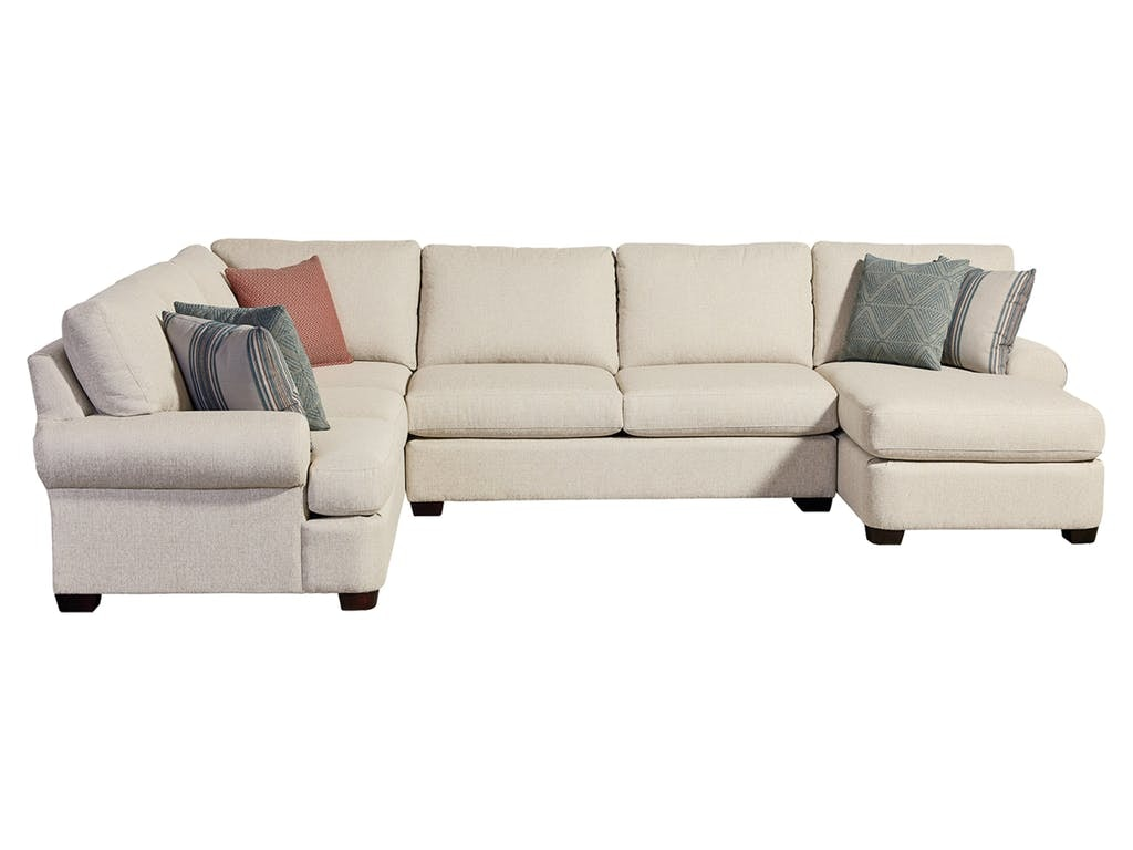 Bassett Living Room Sectional With Pillows 3901 Fcusect At Talsma Furniture