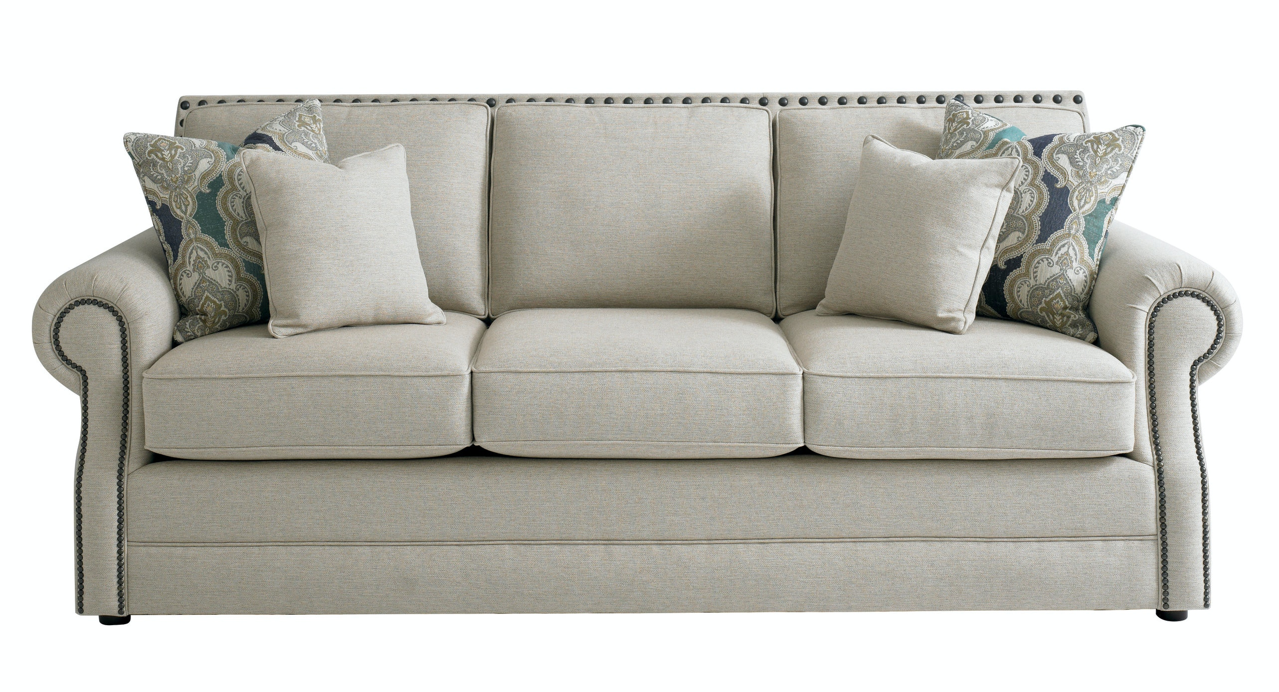 Bassett Hubbard Sofa With Pillows 698042