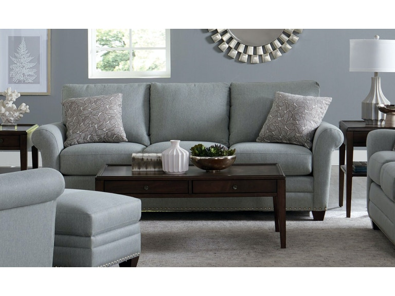 Bassett Sofa with Pillows 742638 - Talsma Furniture - Hudsonville ...