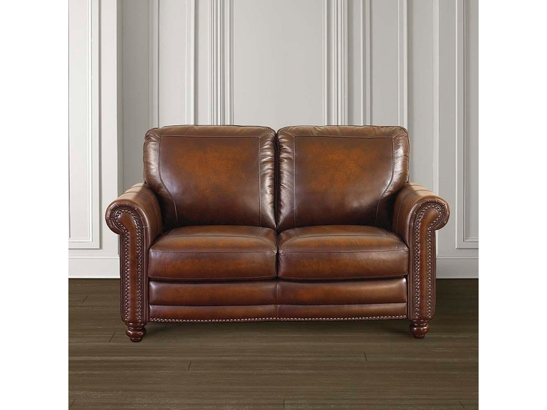 Bassett Hamilton Leather Loveseat 24999l Talsma Furniture Hudsonville Holland Byron Center