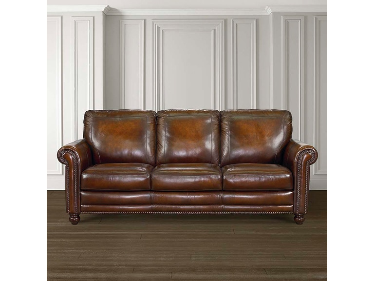 Bassett Hamilton Leather Sofa 24999 Talsma Furniture Hudsonville Holland Byron Center