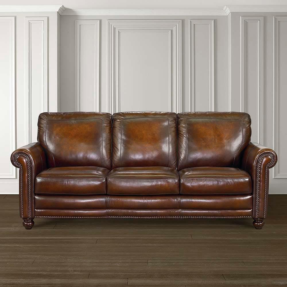 Bassett Hamilton Leather Sofa 24999