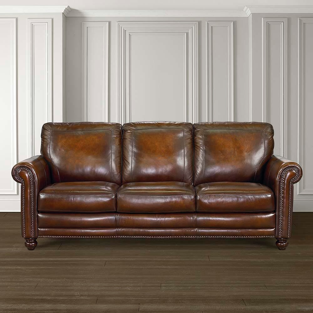 Bassett Hamilton Leather Sofa 24999