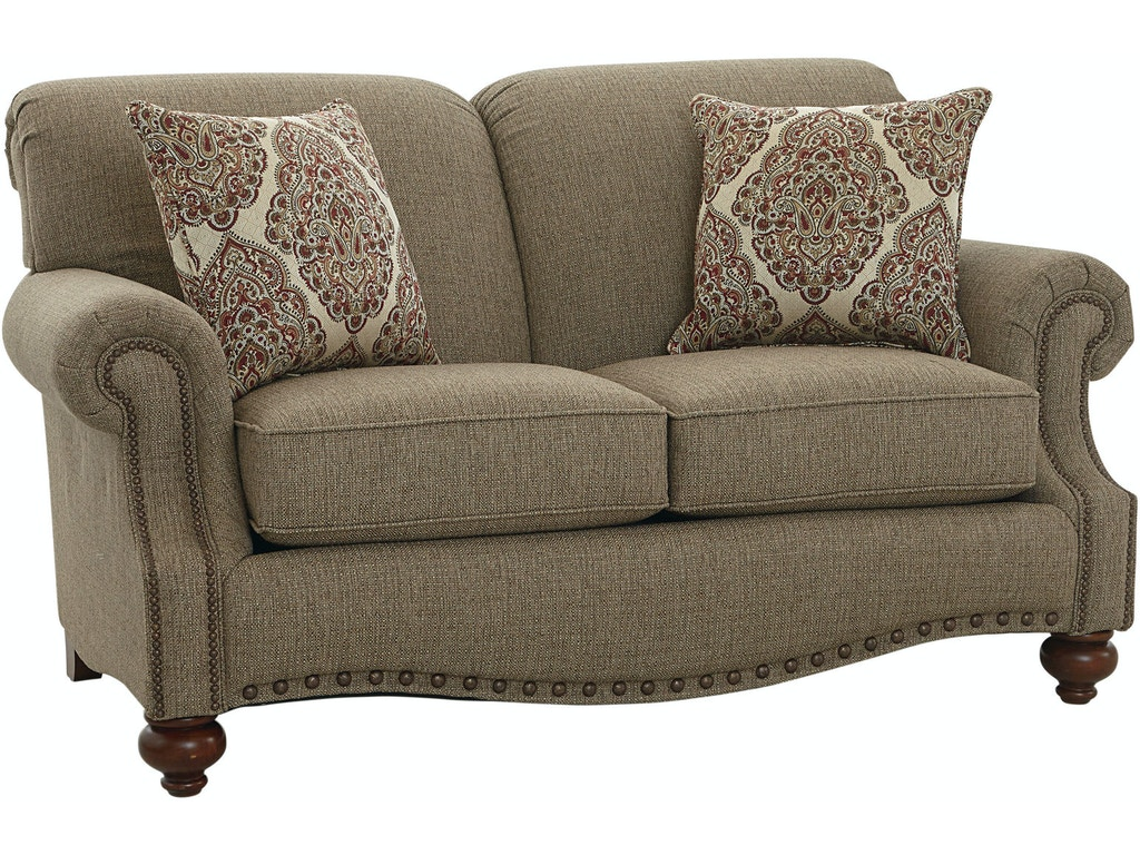 Bassett Loveseat With Pillows 742649 Talsma Furniture