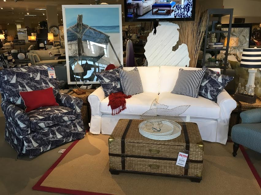 Beautiful Beach House Living Room Slip Covered Sofa 40020S At Talsma Furniture