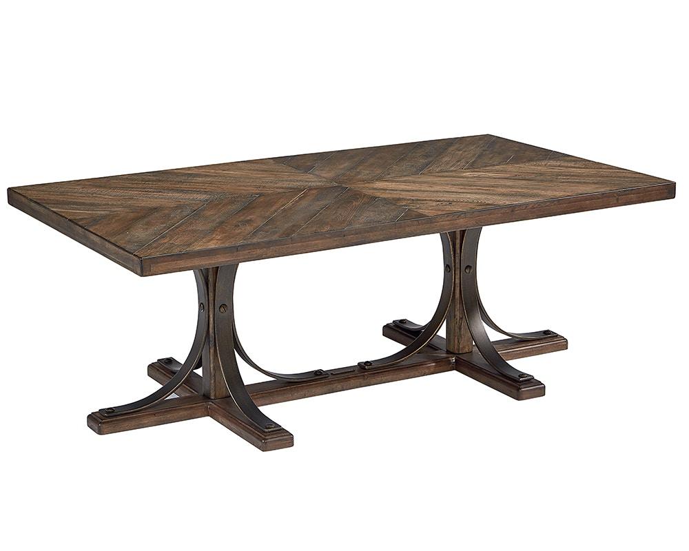 Iron Trestle Cocktail Table