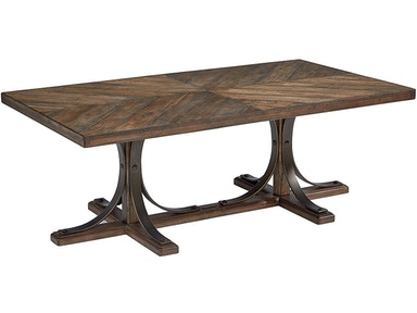 Magnolia Home by Joanna Gaines Iron Trestle Cocktail Table 671859