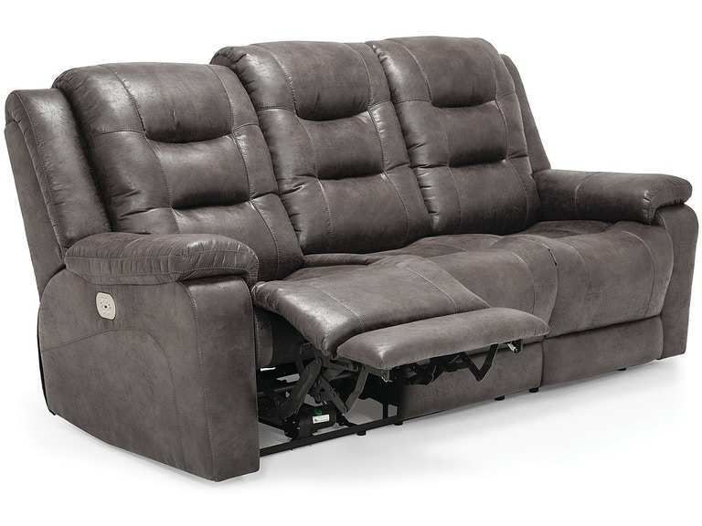 Leighton Reclining Sofa With Headrest And Lumbar Support