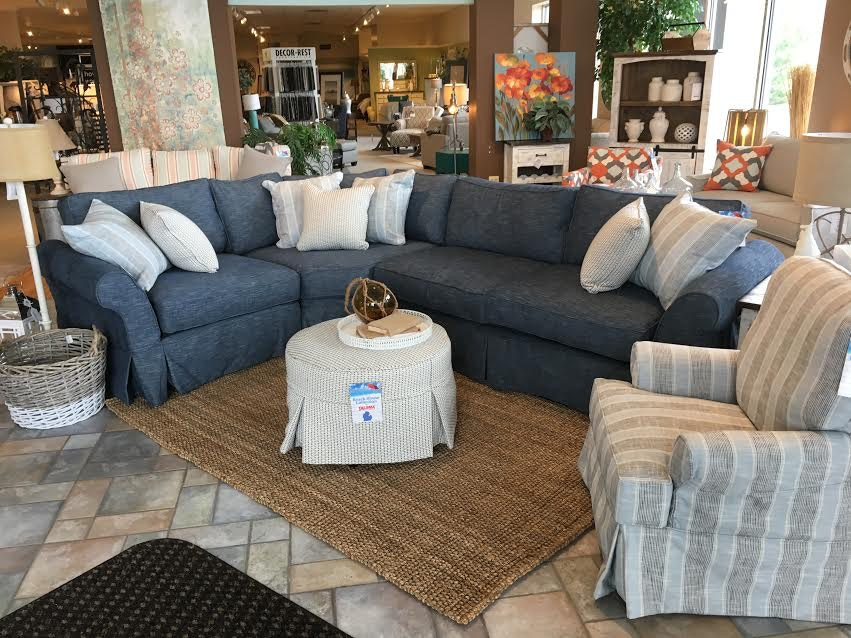 Beach House Living Room Slip Covered Sectional 715405 08 10 At Talsma  Furniture