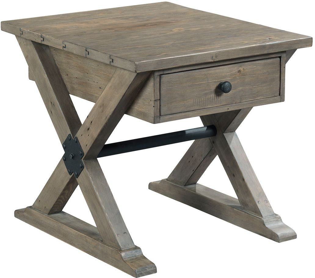 Hammary Reclamation Place Rectangular Drawer End Table 574277