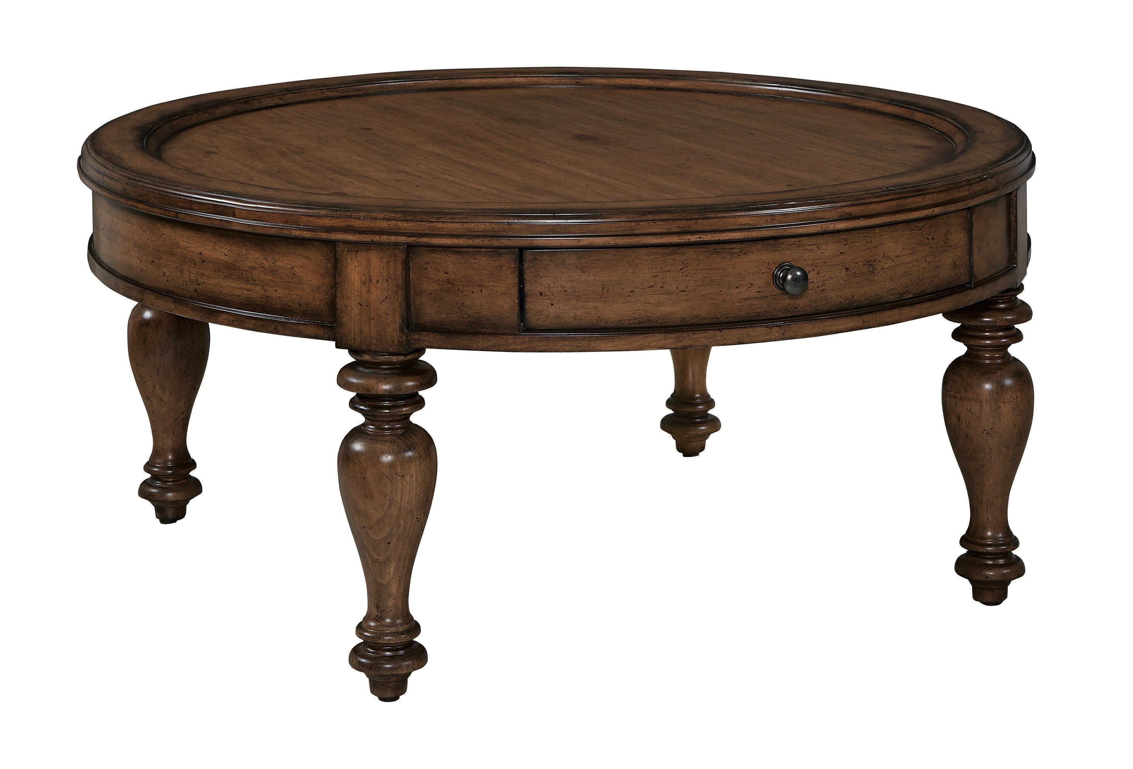 Bassett Heartland Pine Round Cocktail Table 571899
