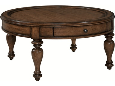 Bassett Heartland Pine Round Cocktail Table 571899