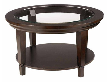 Bassett Easton Round Cocktail Table - Java 6720-0605