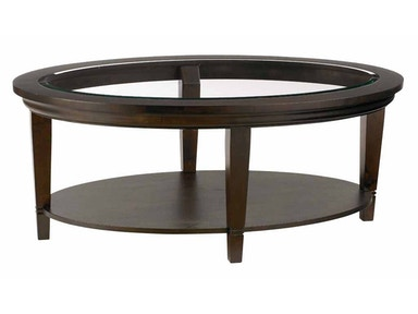 Bassett Easton Oval Cocktail Table - Java 36367