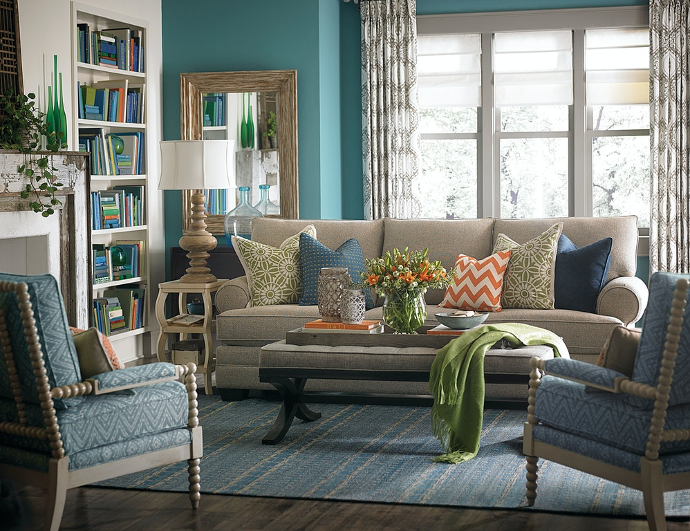 Bassett Great Room Sofa with Pillows 514502 - Talsma Furniture ...