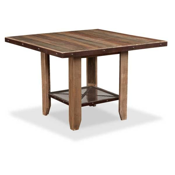 International Furniture Direct Antique Counter Table And 4