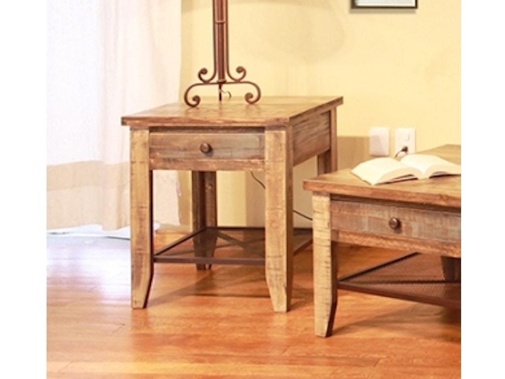 International Furniture Direct Reclaimed Wood End Table 367089 Talsma Furniture Hudsonville