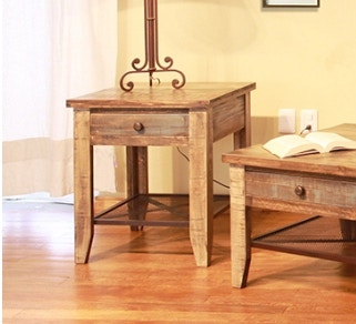 Bon International Furniture Direct Reclaimed Wood End Table 367089