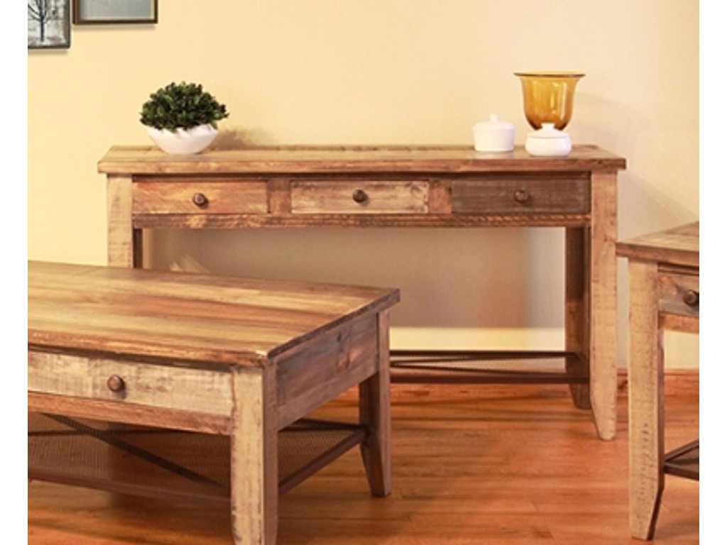 International Furniture Direct Reclaimed Wood Sofa Table 367085
