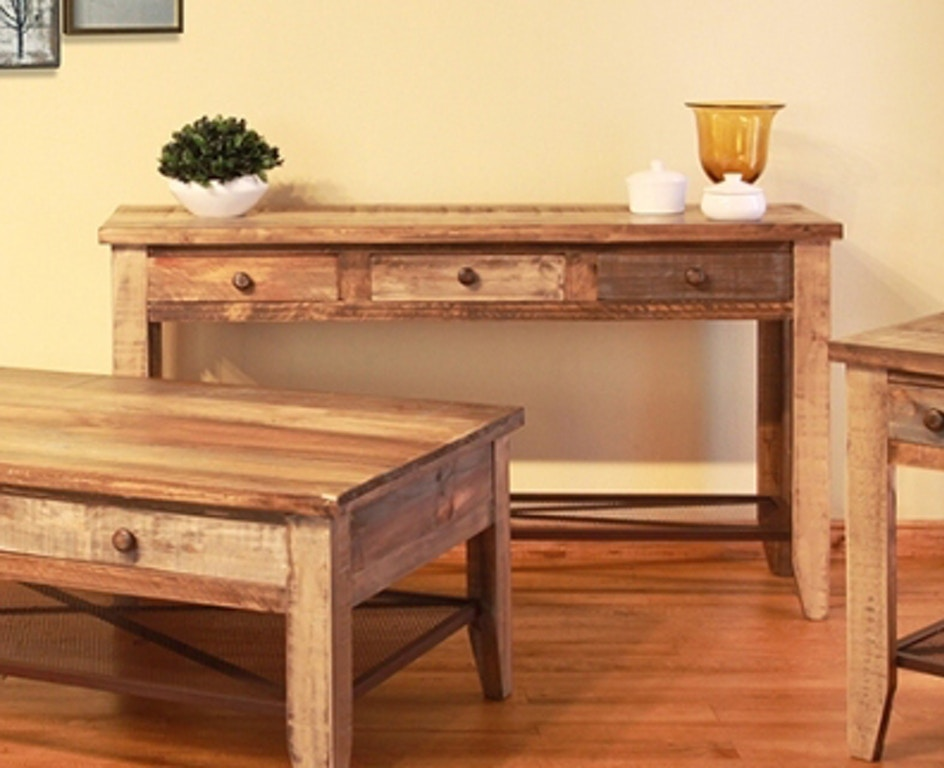 International Furniture Direct Reclaimed Wood Sofa Table 367085