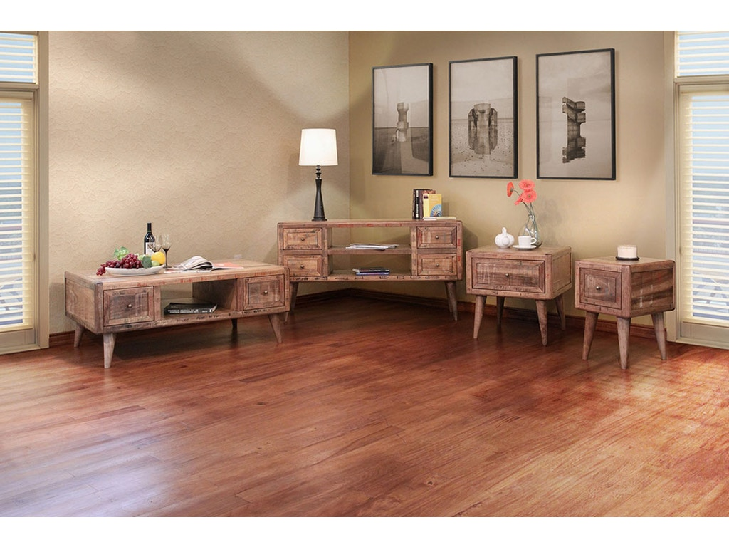 International Furniture Direct Retro End Table 610828 Talsma