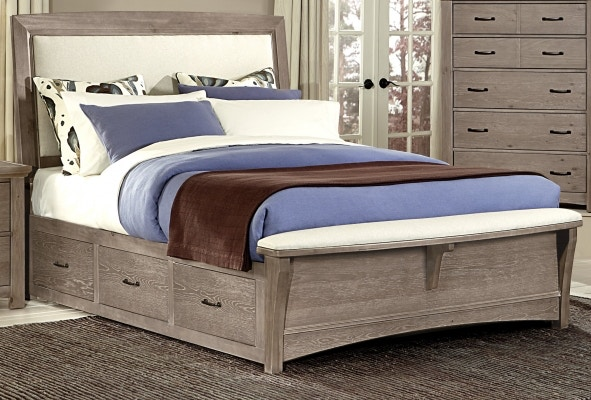king storage bed. Vaughan-Bassett Upholstered King Storage Bed BB61