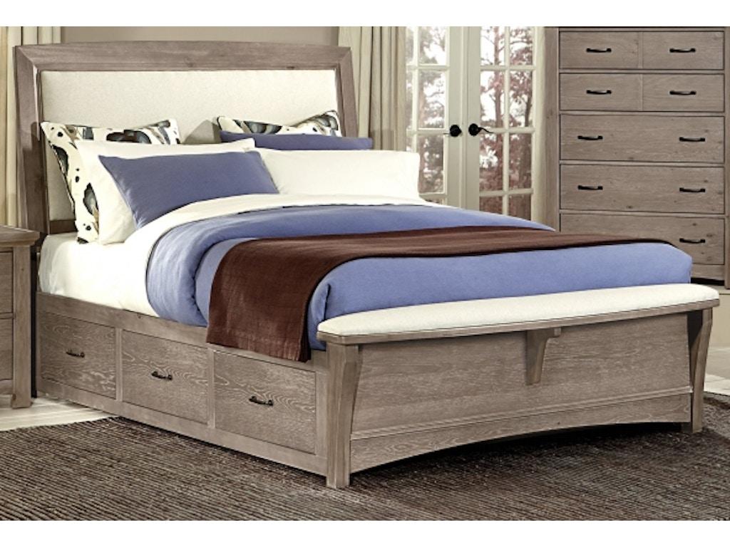 vaughan bassett upholstered king storage bed bb61 king bed talsma furniture hudsonville. Black Bedroom Furniture Sets. Home Design Ideas