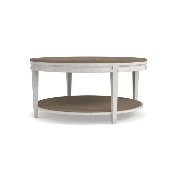 Bassett Living Room Round Cocktail Table 813685 At Talsma Furniture