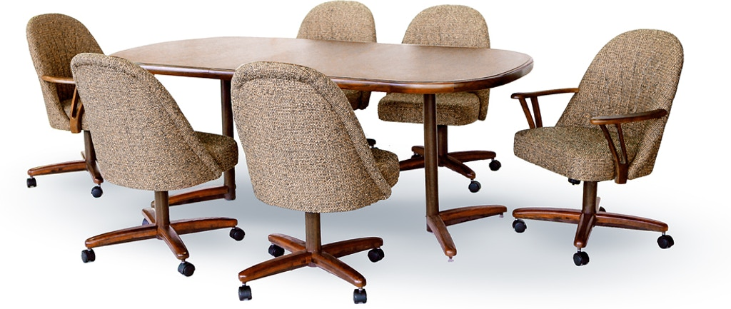 Call Us For Additional Information And To Ensure You Receive The Best Price 5 Piece Chromcraft Set Includes Table That Is 42 X 60 With 18
