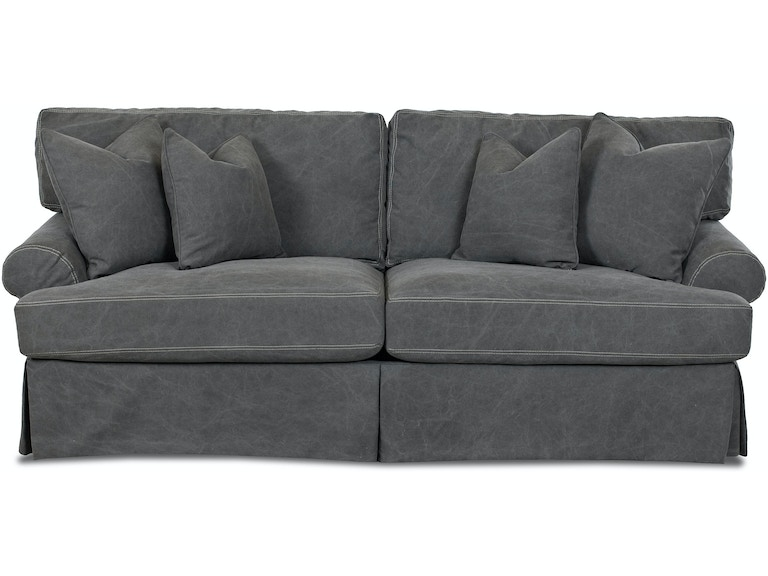 Simple Elegance Lahoya Slipcover Sofa With Pillows 536659