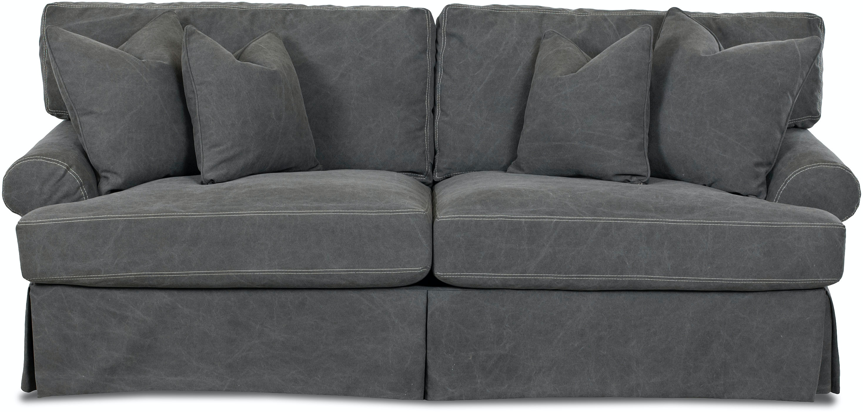 Simple Elegance Lahoya Slipcover Sofa With Pillows 536659 Talsma  ~ White Denim Slipcovers Sofa