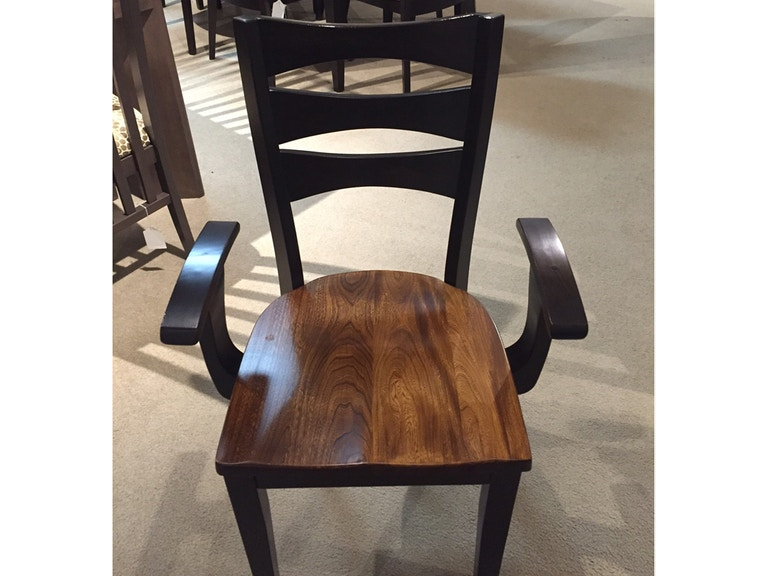 Amish Works Dining Room Elm Seat Arm Chair 237883 At Talsma Furniture
