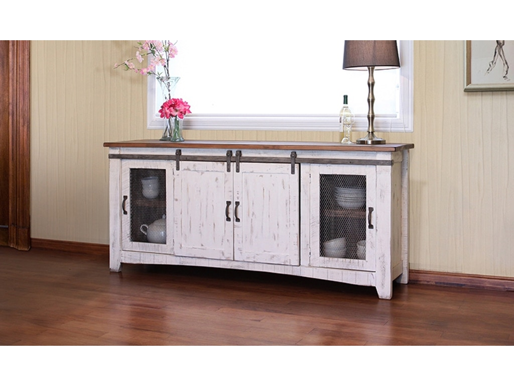 International Furniture Direct 80 Quot Tv Stand With Sliding