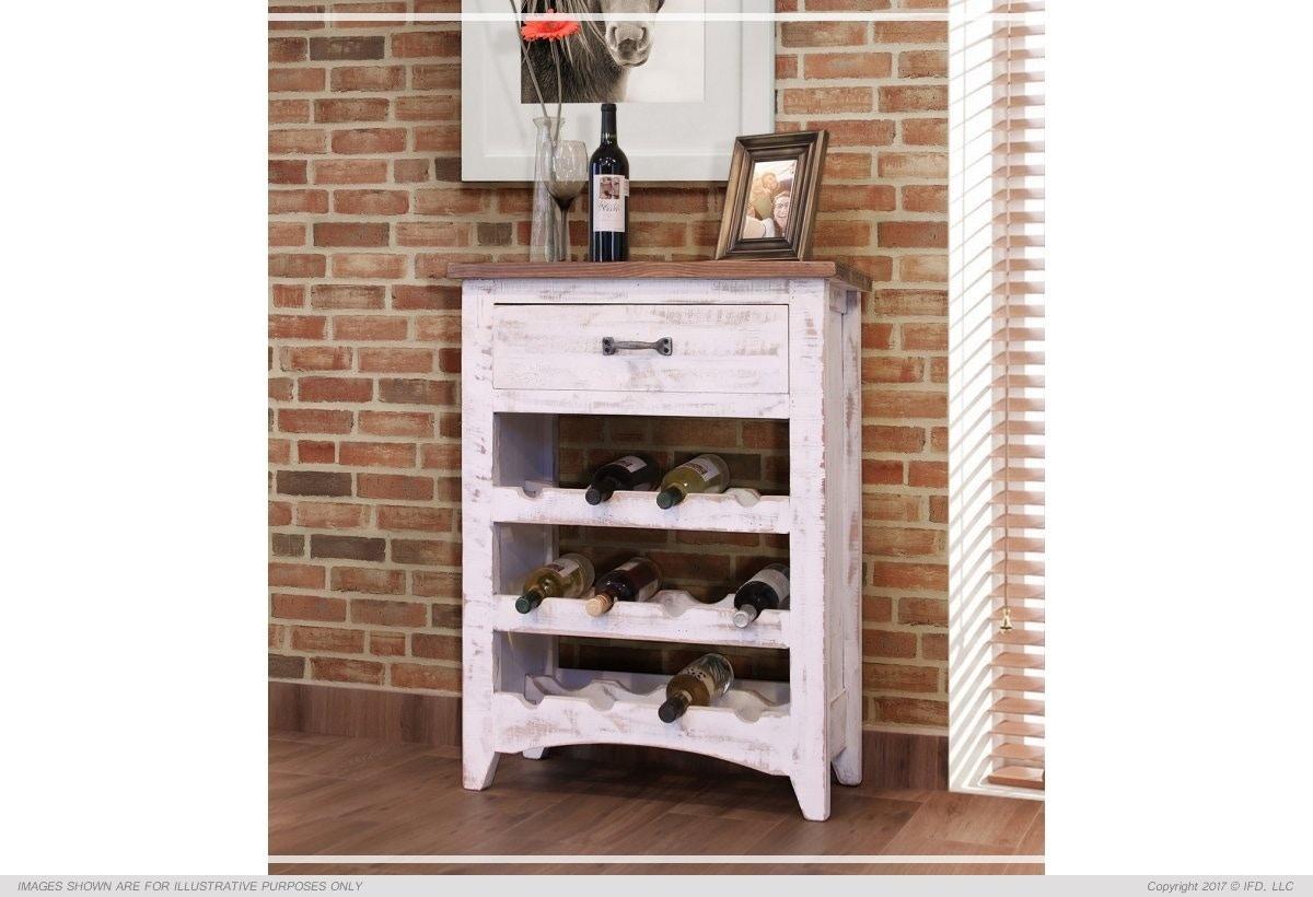 International Furniture Direct Wine Storage Table 697440