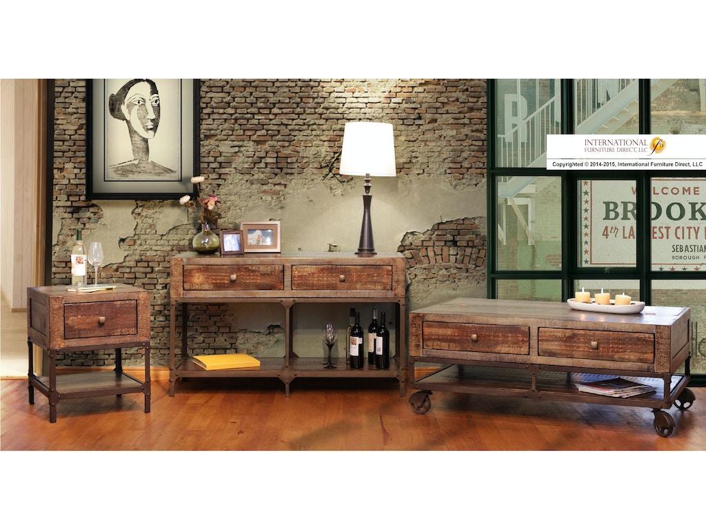 International Furniture Direct Urban Gold End Table 510126
